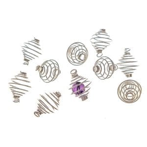 Bead Cage 14mm Silver Plate Pack of 10