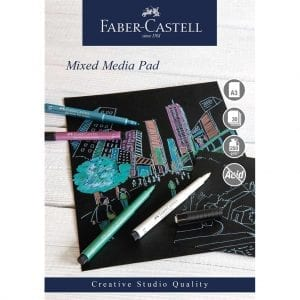 A3 Creative Studio Mixed Media Pad 250gsm 30 Sheets - Black