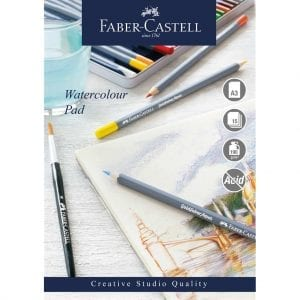A3 Creative Studio Watercolour Pad Spiral 190gsm 15 Sheets