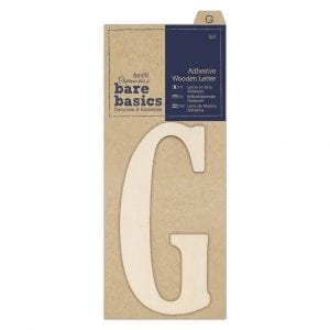 Adhesive Wooden Letter G (1pc)