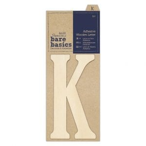 Adhesive Wooden Letter K (1pc)