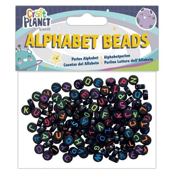 Alphabet Beads (160pcs) - Black Small