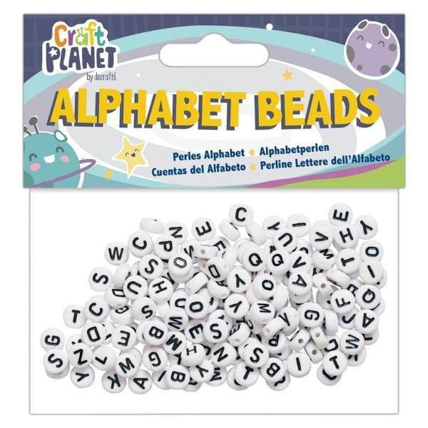 Alphabet Beads (160pcs) - White Small