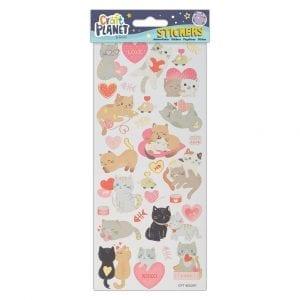 Fun Stickers - Cats In Love