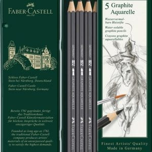 GRAPHITE AQUARELLE PENCIL TIN OF 5-1