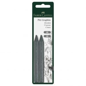 PITT Graphite Crayons Blister of 2 6B