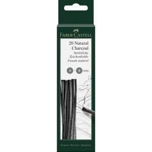 PITT Natural Charcoal Sticks Blistercard 3-6mm Dia - Pack 20-2