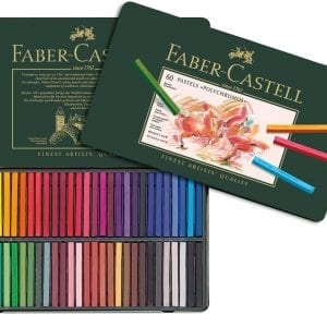 Tin of 60 Polychromos Artists' Pastels-1
