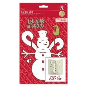 A5 Dies - Pop Up Card - Snowman