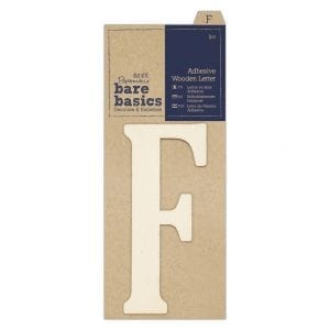 Adhesive Wooden Letter F (1pc)