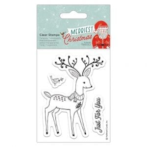 Clear Stamps - Merriest Christmas - Stag