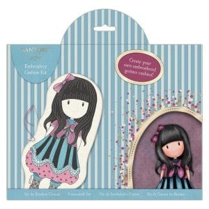Embroidery Doll Cushion Kit - Santoro - The Frock